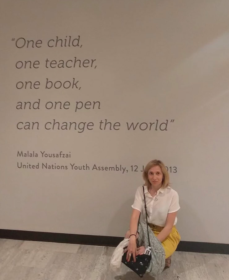 Ruth na sede da ONU - New York